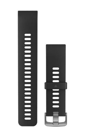 Garmin Ersatzarmbänder Schwarzes Silikonarmband