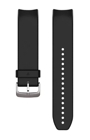 QuickFit 22-Uhrenarmbänder (Approach S60) Schwarz, Silikon