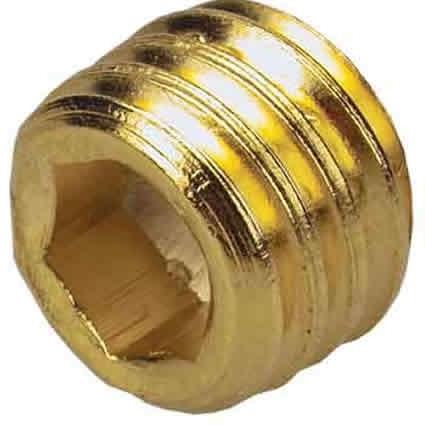 Ersatzschraube, Innensechskant, vergoldet, 7mm Gewindelänge