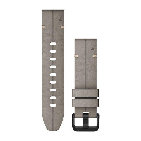 QuickFit 20-Uhrenarmbänder graues Veloursleder