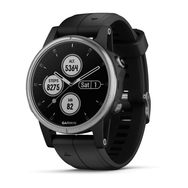 Fenix 5S Plus Silber mit schwarzem Armband