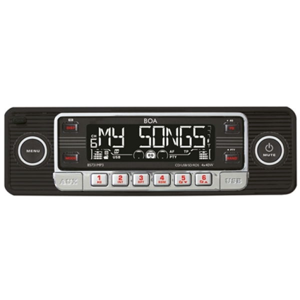 RETRO Radio CD, MP3, USB, SD, RDS, AUX, schwarz