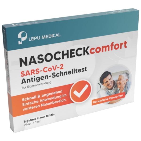 5er Pack Antigen-Schnelltest LEPU Nasocheck comfort SARS-CoV-2 Antigen mit Laienzulassung