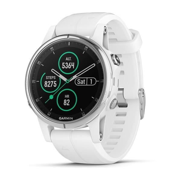 Fenix 5S Plus Saphir Weiß mit weißem Armband