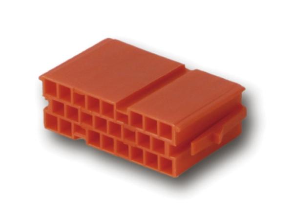 Mini ISO Steckergehäuse ROT 20 polig