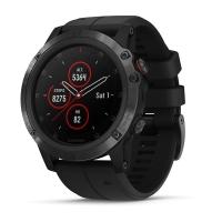 Fenix 5X Plus Saphir schwarz mit schwarzem Armband