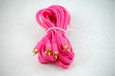 Cinchkabel pink 2-Kanal 500cm lang
