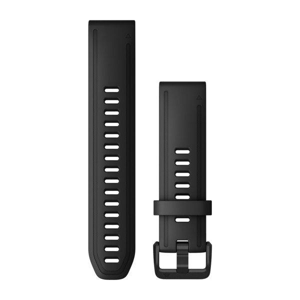 QuickFit 20-Uhrenarmbänder Schwarzes Silikon