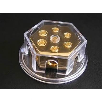 Verteilerblock rechteckig 1 auf 4 Verteilung 2 x 20qmm auf 4 x 1 CHP