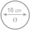 16 cm