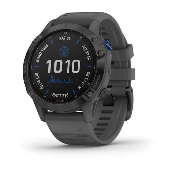 Fenix 6 – Pro Solar Edition Schwarz mit schiefergrauem Armband