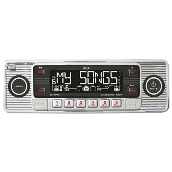 RETRO Radio CD, MP3, USB, SD, RDS, AUX, chrom