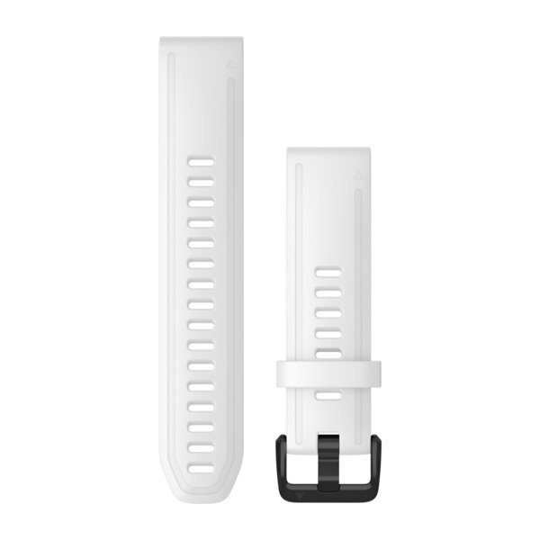 QuickFit 20-Uhrenarmbänder Weißes Silikon mit schwarzen Teilen