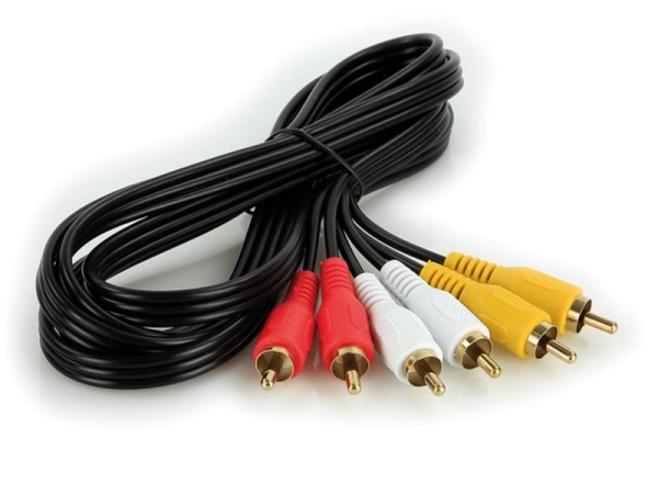 A/V Kabel 2 m / 3 Stecker rot-weiß-gelb