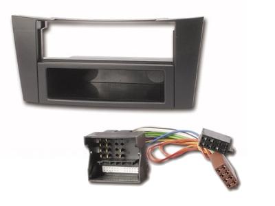 Mercedes E-Klasse Radioblende + ISO Adapter