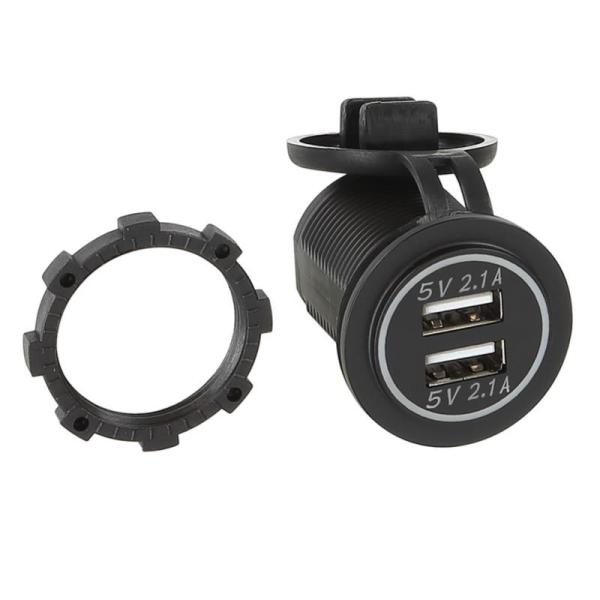 USB Ladeadapter 12V/24V 4.2A zur Installation / blau