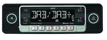 Retro 301 DAB / BT schwarz chrome