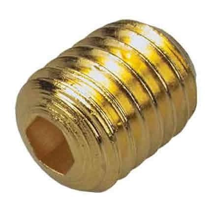 Ersatzschraube, Innensechskant, vergoldet, 12,5mm Gewindelänge