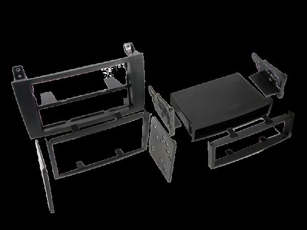 Doppel-ISO Einbaukit mit Ablagefach für Mercedes SLK-Klasse (R171)
