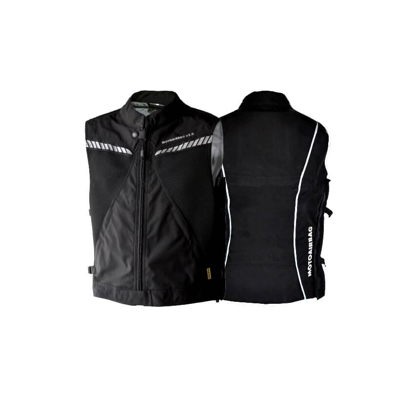 MOTOAIRBAG v2.0c Weste Airbag hinten und vorne, schwarz, Größe S/M