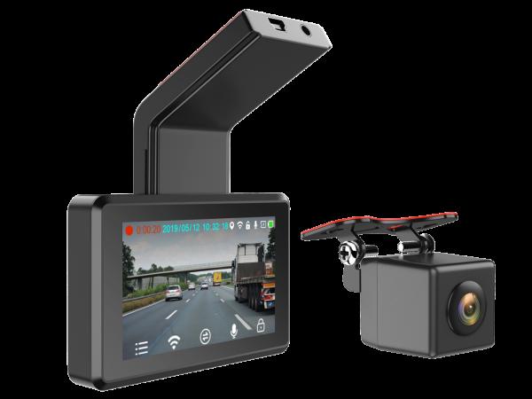 """Full HD Dashcam inkl. 3"""" Monitor + Heckkamera DVRnitor + Heckkamera DVR"""