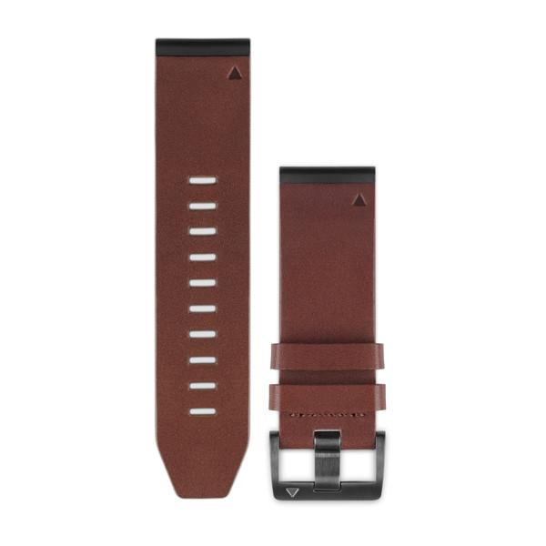 Quickfit-Titan-Armband 26mm Schiefergrau, Braunes Leder