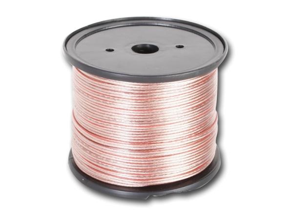 Lautsprecherkabel silber farbig 2 x 2,5qmm Rolle CHP