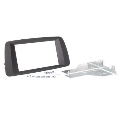 Radioblende SEAT Ibiza bis 2014 2DIN schwarz soft touch Installer Kit